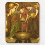 The Danaides by Waterhouse, Vintage Victorian Art Mousepads