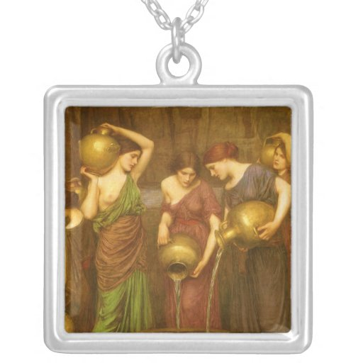 The Danaides by Waterhouse, Vintage Victorian Art Jewelry