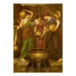 The Danaides by Waterhouse, Vintage Victorian Art Print