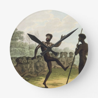 The Dance, aborigines from New South Wales engrave Round Clock