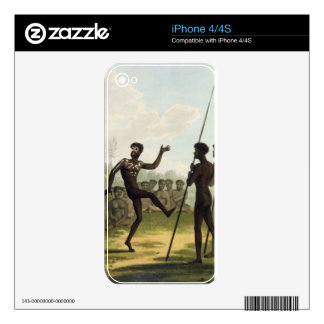 The Dance, aborigines from New South Wales engrave Decal For iPhone 4