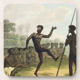 The Dance, aborigines from New South Wales engrave Drink Coaster