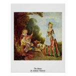 The Dance, By Antoine Watteau Posters