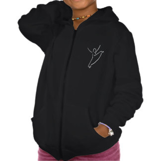 The Dance Center Girls' Zip Hoodie, American App. Hooded Pullovers