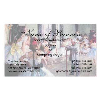 The Dance Class by Edgar Degas Business Card