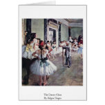 The Dance Class By Edgar Degas Greeting Card