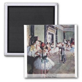 The Dance Class By Edgar Degas Magnet