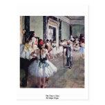 The Dance Class By Edgar Degas Postcard