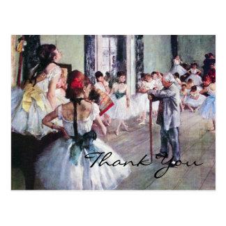 The Dance Class by Edgar Degas Post Cards