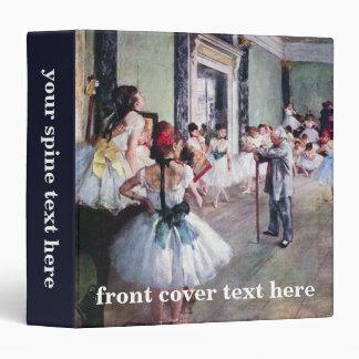 The Dance Class by Edgar Degas, Vintage Ballet Art Binder