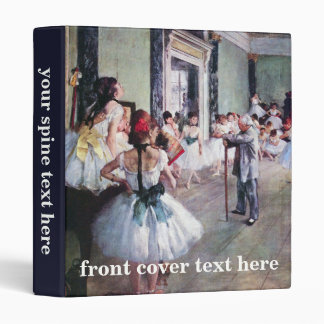 The Dance Class by Edgar Degas, Vintage Ballet Art Binder
