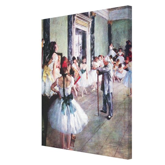The Dance Class by Edgar Degas, Vintage Ballet Art Canvas Print
