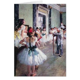 The Dance Class by Edgar Degas, Vintage Ballet Art Card