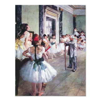 The Dance Class by Edgar Degas, Vintage Ballet Art Card