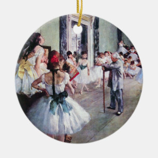 The Dance Class by Edgar Degas, Vintage Ballet Art Ceramic Ornament