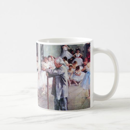 The Dance Class by Edgar Degas, Vintage Ballet Art Coffee Mug