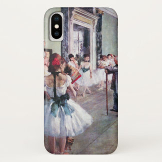 The Dance Class by Edgar Degas, Vintage Ballet Art iPhone X Case