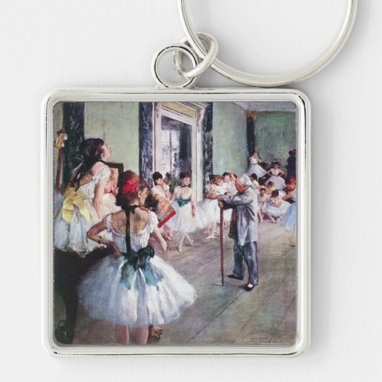 The Dance Class by Edgar Degas, Vintage Ballet Art Keychain