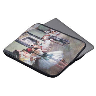 The Dance Class by Edgar Degas, Vintage Ballet Art Laptop Sleeve