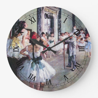 The Dance Class by Edgar Degas, Vintage Ballet Art Large Clock