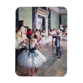 The Dance Class by Edgar Degas, Vintage Ballet Art Magnet