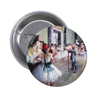 The Dance Class by Edgar Degas, Vintage Ballet Art Pinback Button