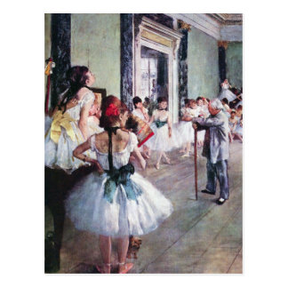 The Dance Class by Edgar Degas, Vintage Ballet Art Postcard