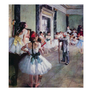 The Dance Class by Edgar Degas, Vintage Ballet Art Poster