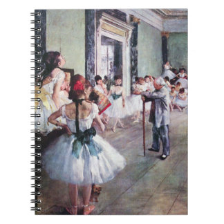 The Dance Class by Edgar Degas, Vintage Ballet Art Spiral Notebook