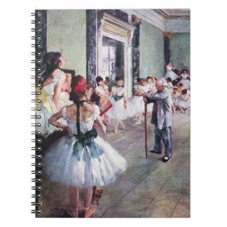The Dance Class by Edgar Degas, Vintage Ballet Art Spiral Notebook