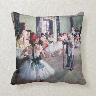 The Dance Class by Edgar Degas, Vintage Ballet Art Throw Pillow