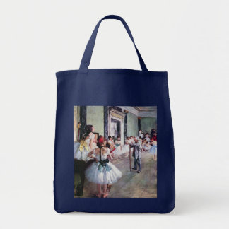 The Dance Class by Edgar Degas, Vintage Ballet Art Tote Bag