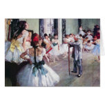The Dance Class by Edgar Degas, Vintage Ballet Greeting Card