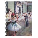 The Dance Class by Edgar Degas, Vintage Ballet Spiral Notebooks