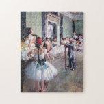 The Dance Class by Edgar Degas, Vintage Ballet Puzzles