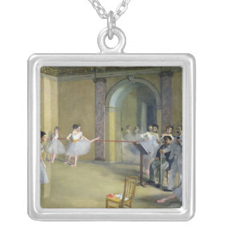The Dance Foyer Square Pendant Necklace