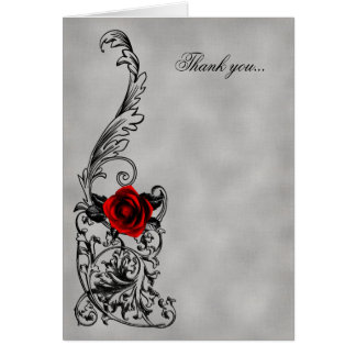 The Dance Gothic Wedding Thank You Card