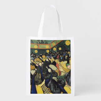 The Dance Hall at Arles, 1888 Reusable Grocery Bags