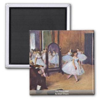 The Dance Hall By Edgar Degas Refrigerator Magnet