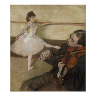 The Dance Lesson by Edgar Degas Poster