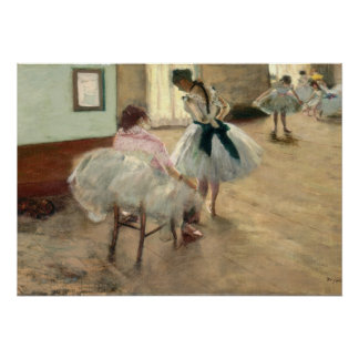 The Dance Lesson, c.1879 (oil on canvas) Poster
