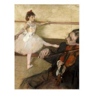The Dance Lesson - Edgar Degas Postcard