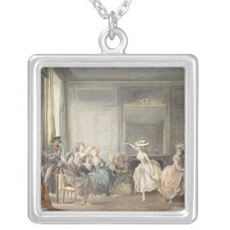 The Dance Lesson Square Pendant Necklace