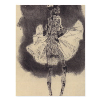The Dance of Death by Felicien Rops Postcard