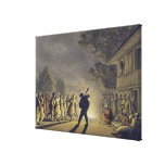 The Dance of the Bulgarian Peasants, pub. by Willi Canvas Print