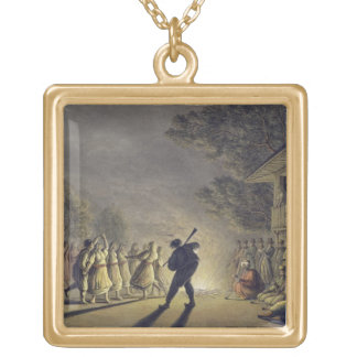 The Dance of the Bulgarian Peasants, pub. by Willi Gold Plated Necklace