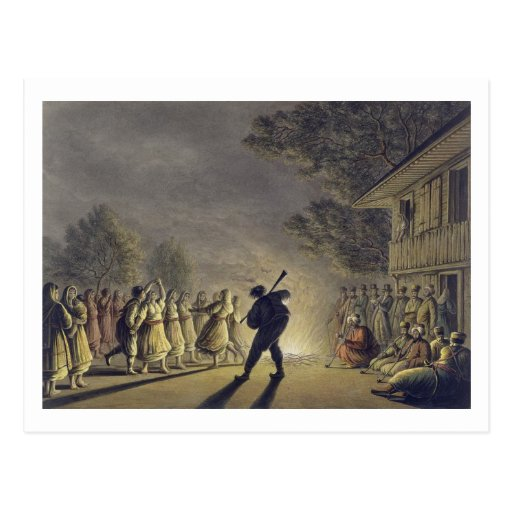 The Dance of the Bulgarian Peasants, pub. by Willi Post Cards