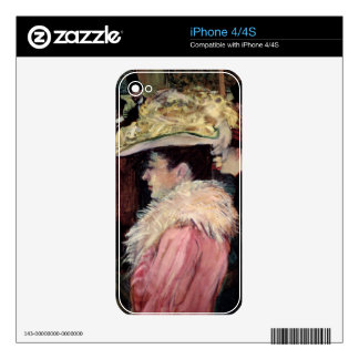 The Dance of the Rouge: detail of an elegan Skins For iPhone 4S