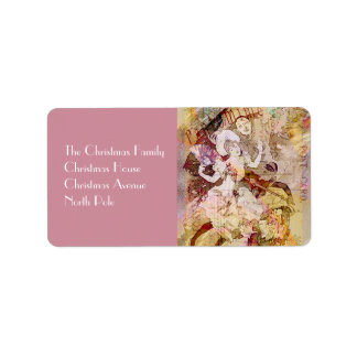 The Dancer and the Pierrot Christmas Custom Address Label