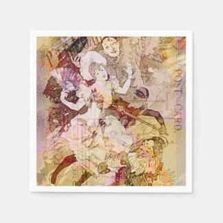 The Dancer and the Pierrot Christmas Napkin